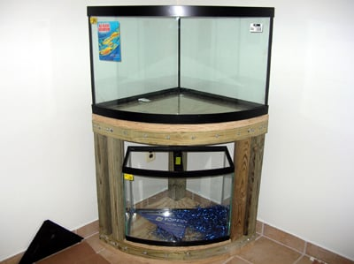 28 diy aquarium stands with plans guide patterns for Corner fish tanks