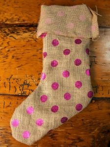 DIY Burlap Christmas Stocking