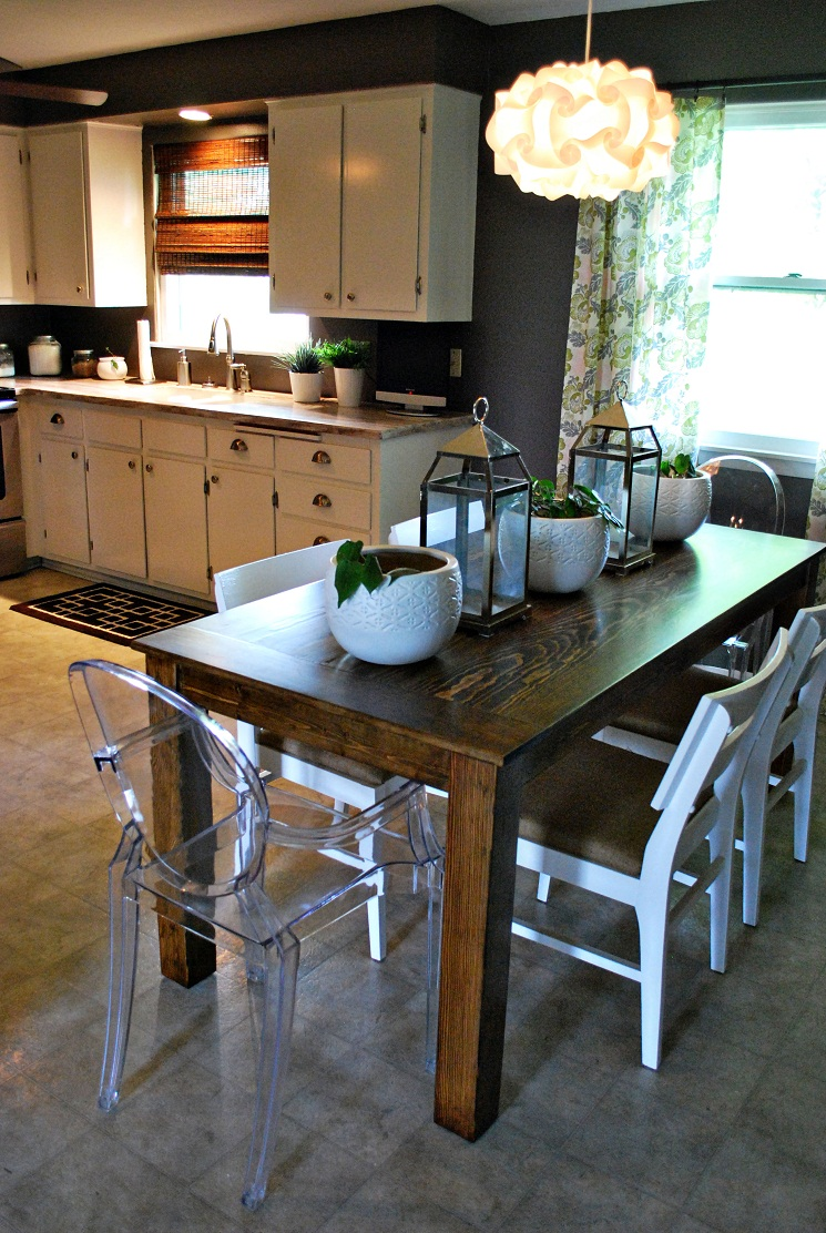Nice Homemade Kitchen Table Ideas Part - 13: DIY Dining Table