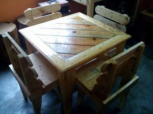 DIY Square Dining Table