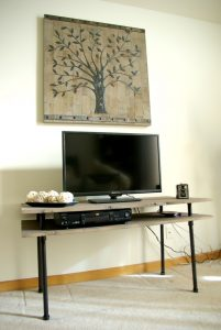 DIY TV Stand with Pipe