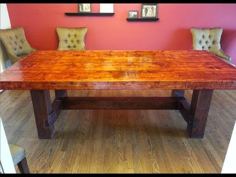 how to build a wooden dining table 1