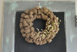 Easy Burlap Wreath