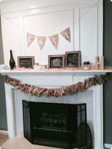 Fall Burlap Garland