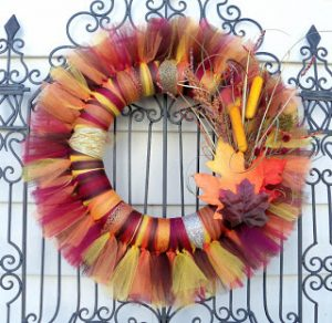 Fall Tulle Wreath