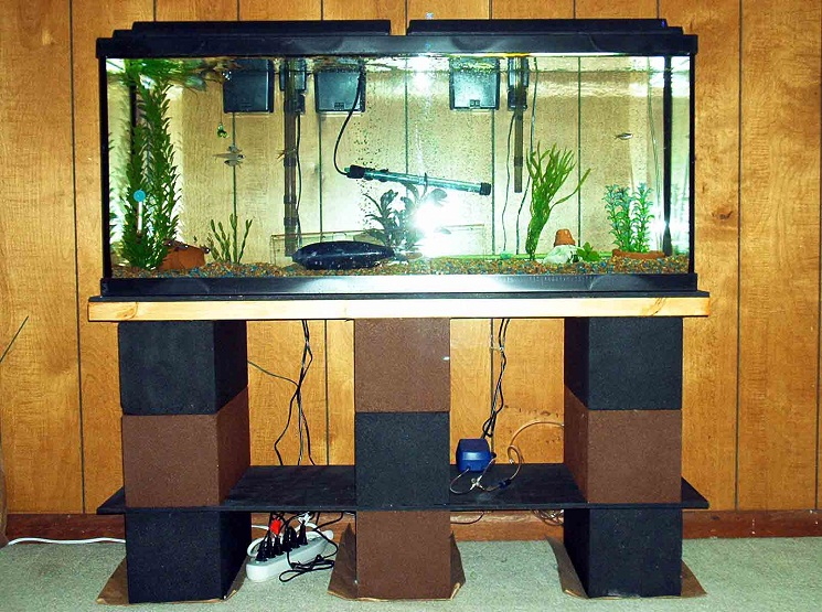28 diy aquarium stands with plans guide patterns for 55 gallon fish tank stand