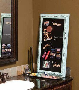 Homemade Magnetic Makeup Board