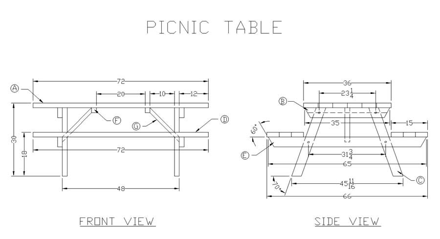 21 wooden picnic tables plans and instructions guide for Woodworks design office 8