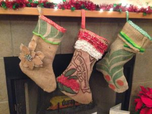 How to Make Burlap Christmas Stockings
