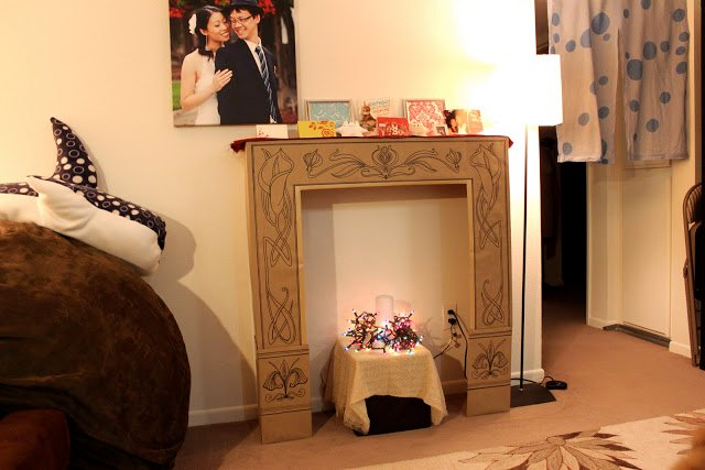 12 Tutorials To Make A Cardboard Fireplace Guide Patterns