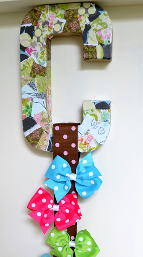 Image Result For Letter Hair Bow Holder
