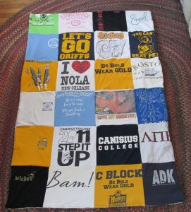 Making a Tshirt Quilt