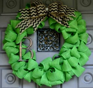 Monogram Burlap Wreath