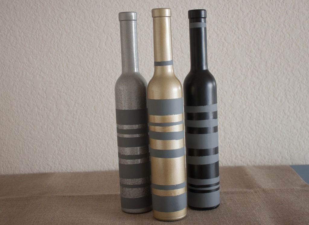 Diy Spray Paint Wine Bottles