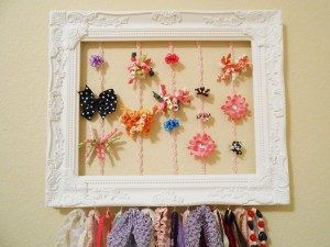 Picture Frame Hair Bow Holder