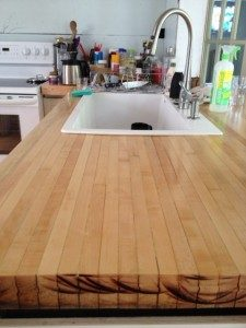 Rustic Wooden Countertop