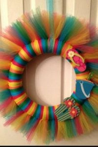 Summer Door Tulle Wreath Idea