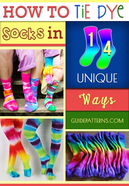 How To Tie Dye Socks In 14 Unique Ways Guide Patterns