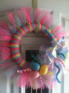Wreath Made From Tulle