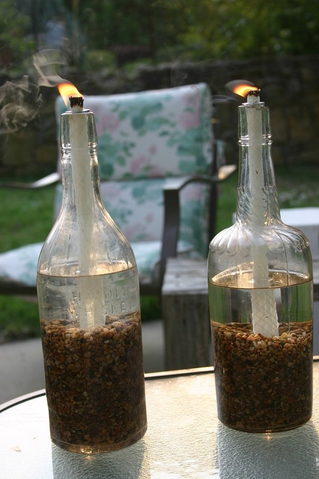 11 Wine Bottle Tiki Torch Diys Guide Patterns