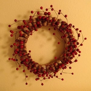Wine Cork Wreath Image