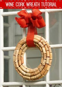 Wine Cork Wreath Tutorial