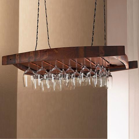 Wine Gl Rack Chandelier