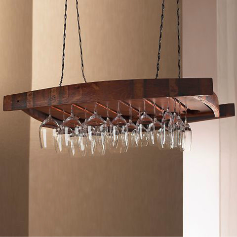 Wine glass chandelier 11 creative ideas guide patterns wine glass rack chandelier aloadofball Images