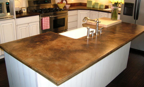 18 diy designs to build wooden countertops guide patterns for Concrete kitchen countertops reviews