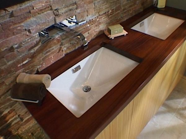 18 diy designs to build wooden countertops guide patterns for Small bathroom countertop ideas