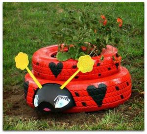 Animal Tire Planter