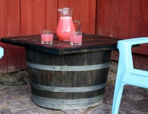 how to build a barrel table