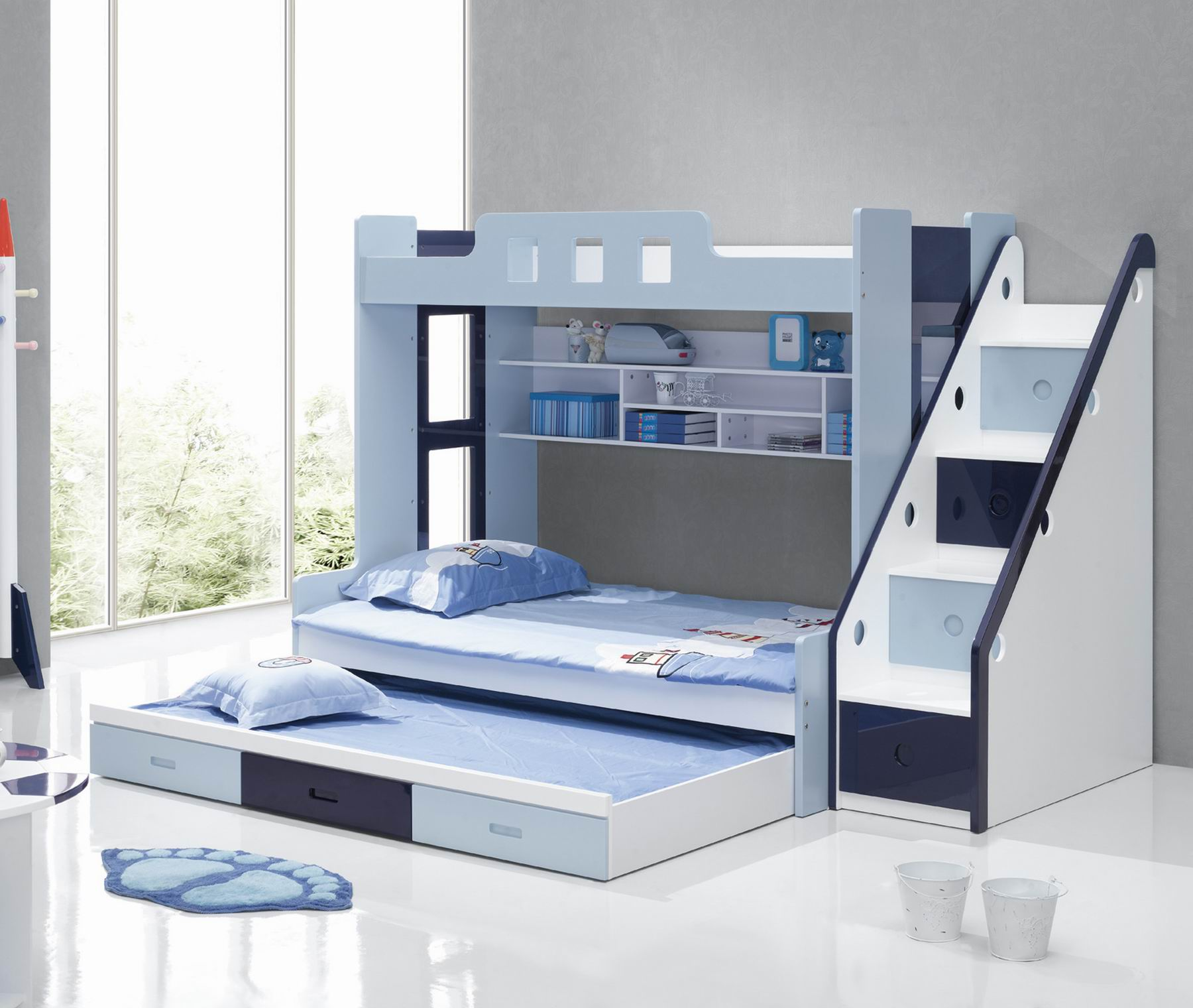 25 diy bunk beds with plans guide patterns for Three bed
