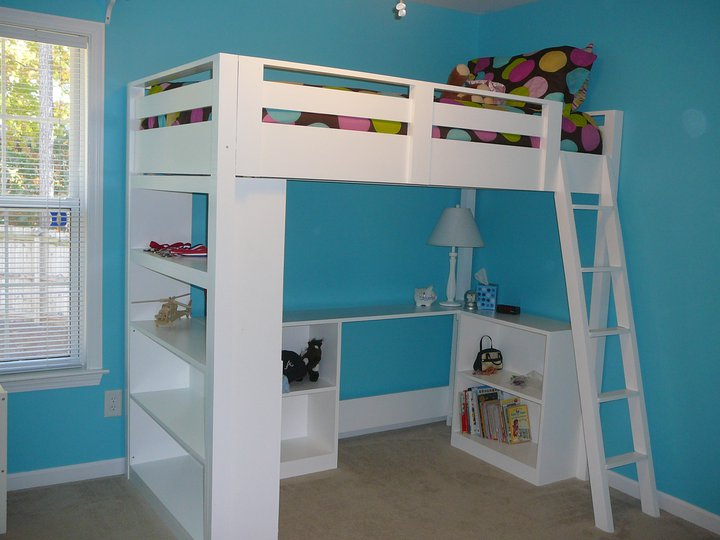 bunk bed with desk - Bunk Beds Design Plans