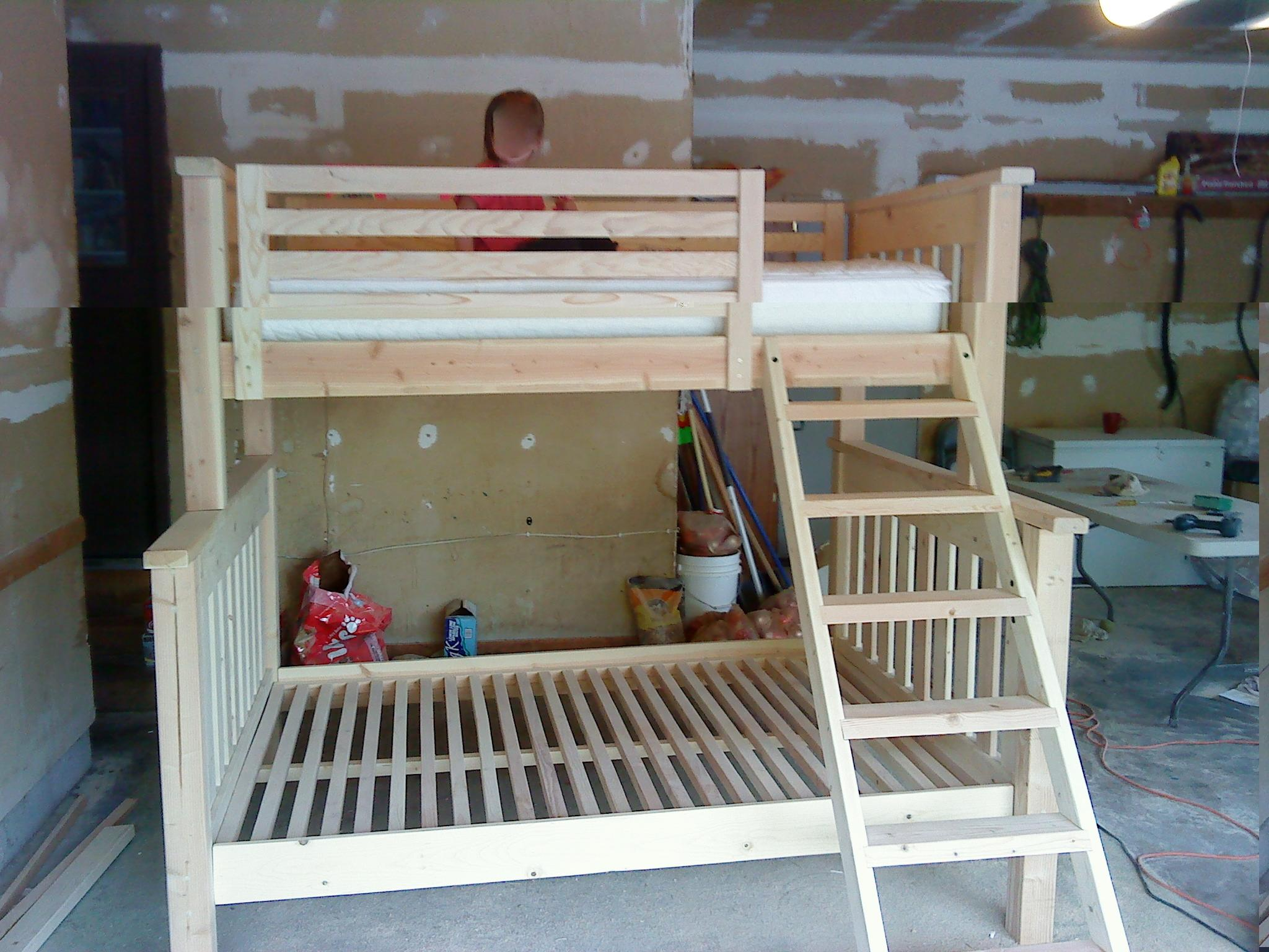 25 diy bunk beds with plans guide patterns twin over full bunk beds amipublicfo Images