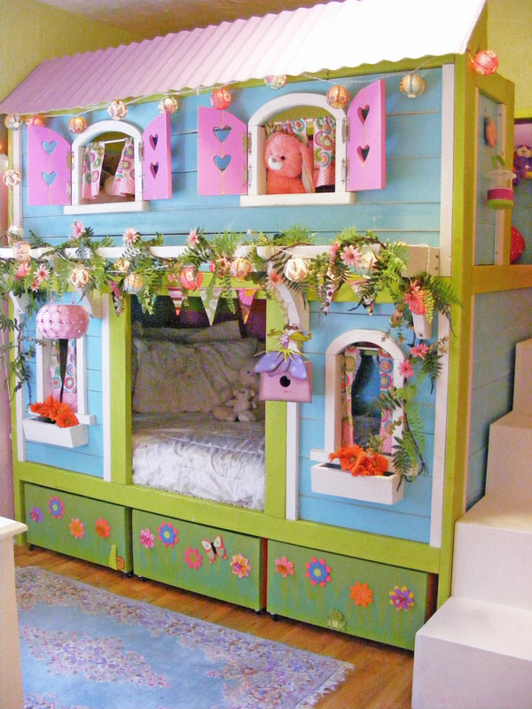 25 diy bunk beds with plans guide patterns for Bunk house plans