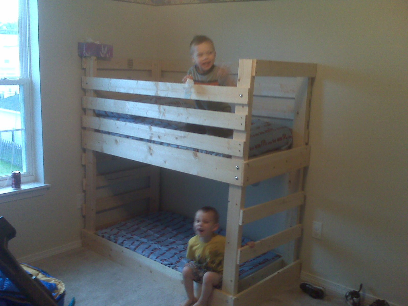 25 diy bunk beds with plans guide patterns for Toddler bunk beds