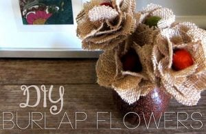 Burlap Flower Arrangement