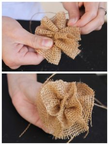 Burlap Flower Craft