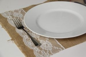 Burlap Placemat for Wedding