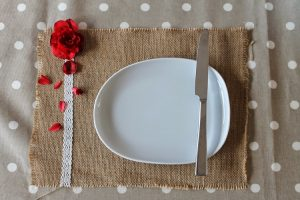 Burlap and Lace Placemat
