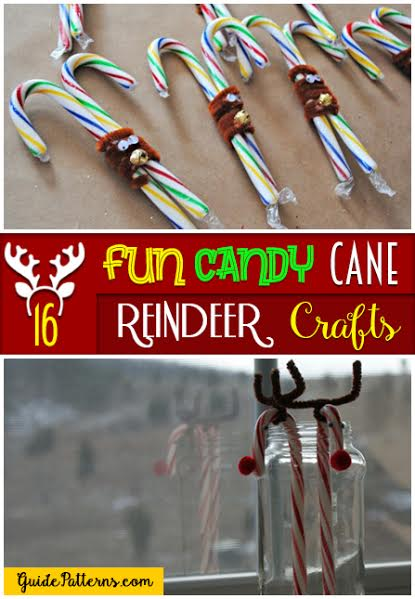 16 Fun Candy Cane Reindeer Crafts Guide Patterns