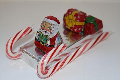 candy cane sleigh - Christmas Candy Sleigh