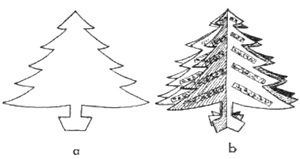 Cardboard Christmas Tree Templates