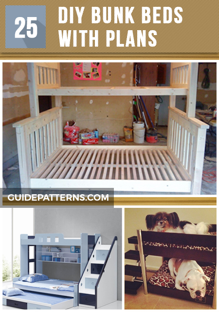 Design Plans For Queen Bunk Bed