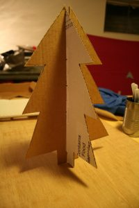 DIY Cardboard Christmas Tree