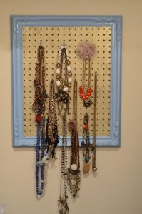 DIY Pegboard Jewelry Holder