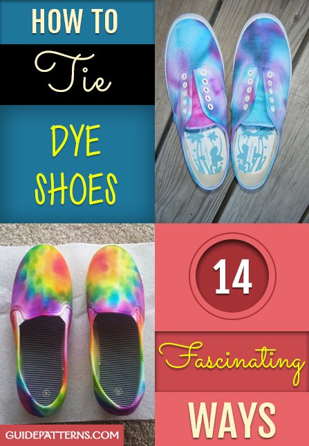 7ba943512d How to Tie Dye Shoes  14 Fascinating Ways