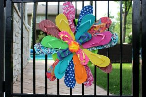Flip Flop Christmas Wreath