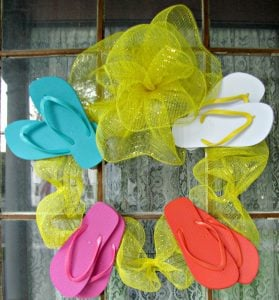 Flip Flop Deco Mesh Wreath